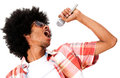 Black man singing Stock Images