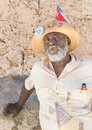 Black man smoking a cuban cigar in Old Havana Royalty Free Stock Photo
