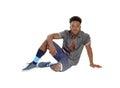 Black man standing in underwear. Royalty Free Stock Photo