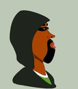 Black man wearing hood Royalty Free Stock Image