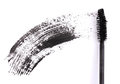 Black mascara brush stroke Royalty Free Stock Photo