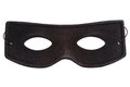 Black mask masquerade isolated on white background Stock Photo