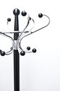 Black Metal Coat Rack Stock Photo