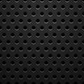 Black metal texture with holes vector background illustration Royalty Free Stock Image