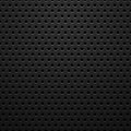 Black metal texture with holes Royalty Free Stock Photo