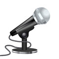 Black microphone on support Royalty Free Stock Photo