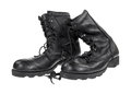 Black military boots Royalty Free Stock Photos