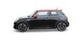 Black mini cooper car