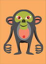 Black monkey Stock Photography