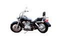 Black motorbike on white background the Stock Photography
