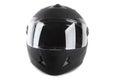 Black motorcycle helmet isolated Royalty Free Stock Photo