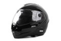 Black motorcycle helmet isolated Stock Photography