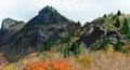 Black mountain peaks in NC Royalty Free Stock Photo