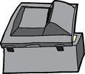 Black multifunction scanner rear of open copy machine Royalty Free Stock Images