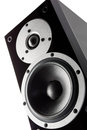 Black music loudspeaker Royalty Free Stock Photos