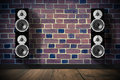 Black music speakers Royalty Free Stock Photo