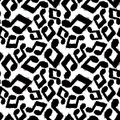 Black musical notes seamless pattern, black and white Royalty Free Stock Photo