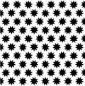 Black nine pointed star on white background