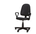 The black office chair isolated over white Stock Image