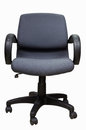 Black office chair in white background Royalty Free Stock Image