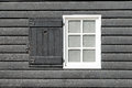 Black old wood window in country house. Royalty Free Stock Photo