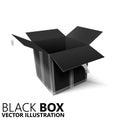 Black open box 3D/ illustration