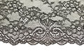 Black openwork lace isolate on white background Stock Images