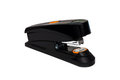 Black and orange powerful mighty office stapler Royalty Free Stock Photo