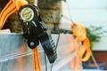 Black and orange ratchet ties Royalty Free Stock Photo