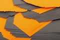 Black and orange sheets paper Royalty Free Stock Images