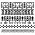 Black ornament border collection Stock Images