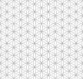 Black outline flower of life sacred geometry pattern