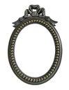 Black Oval Photo Frame isolated on white background Royalty Free Stock Photo