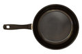 Black pan with handle Stock Photos