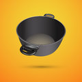 Black pan vector illustration Stock Images