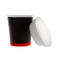 Black Paper cup and lid Royalty Free Stock Images
