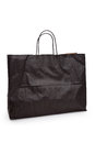Black paper shopping bag with white background Stock Photo