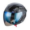 Black pattern helmet Isolated on white background,helmet motorcycle,racing helmet. Royalty Free Stock Photo