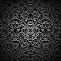 Black pattern ornamental background seamless Royalty Free Stock Photos