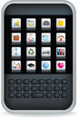 Black pda or mobile phone Stock Photo