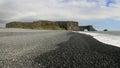 Black pebble beach in Iceland Stock Photos