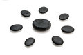 Black pebbles Royalty Free Stock Photo