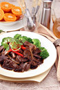 Black pepper beef Royalty Free Stock Image