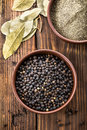 Black pepper in a bowl Stock Photos