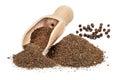 Black pepper ground Royalty Free Stock Photo