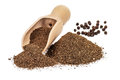 Black pepper ground Royalty Free Stock Photo