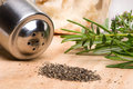 Black pepper and rosemary Royalty Free Stock Photos