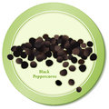 Black Peppercorns Icon Stock Photo