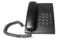 Black phone on a white background Royalty Free Stock Photo