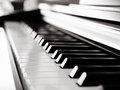 Black piano close up Royalty Free Stock Photo